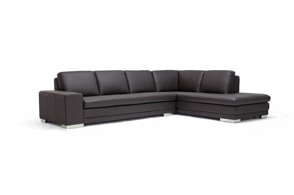 leather couch sectional brown photo - 10
