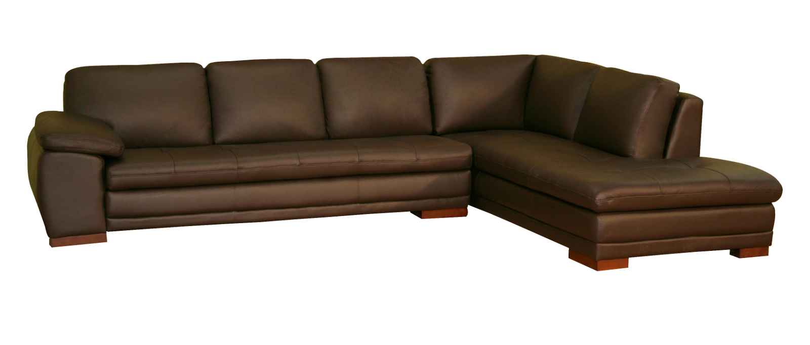 leather couch sectional brown photo - 4