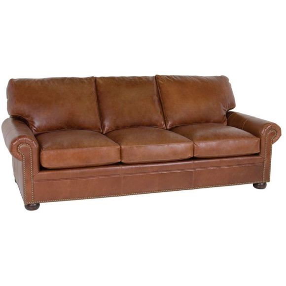 leather couch sectional brown photo - 8