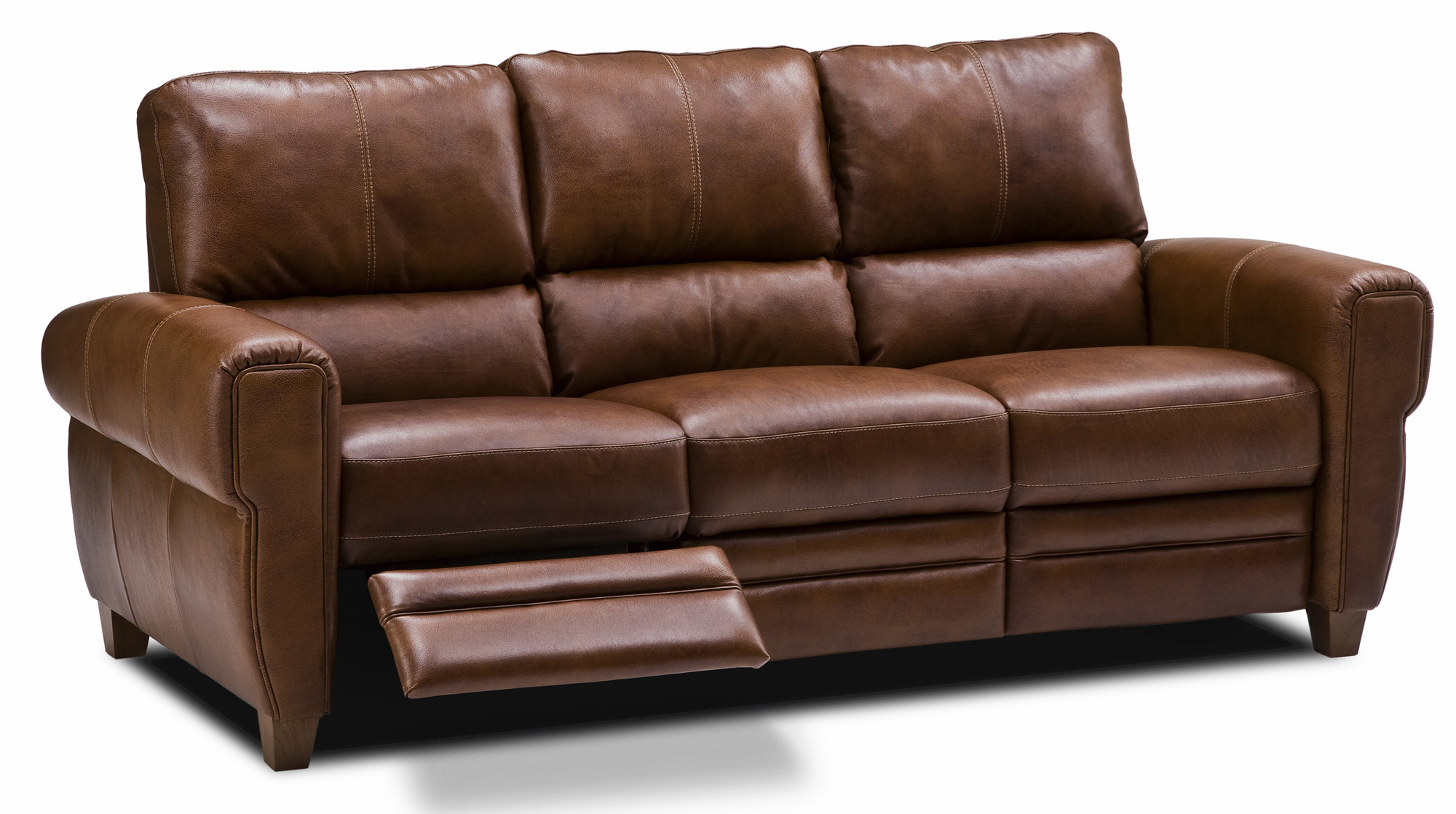 leather sectional sofa bed recliner photo - 2