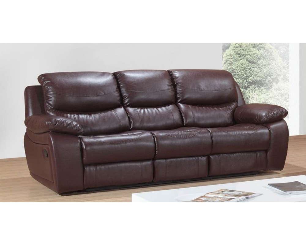 leather sectional sofa bed recliner photo - 5