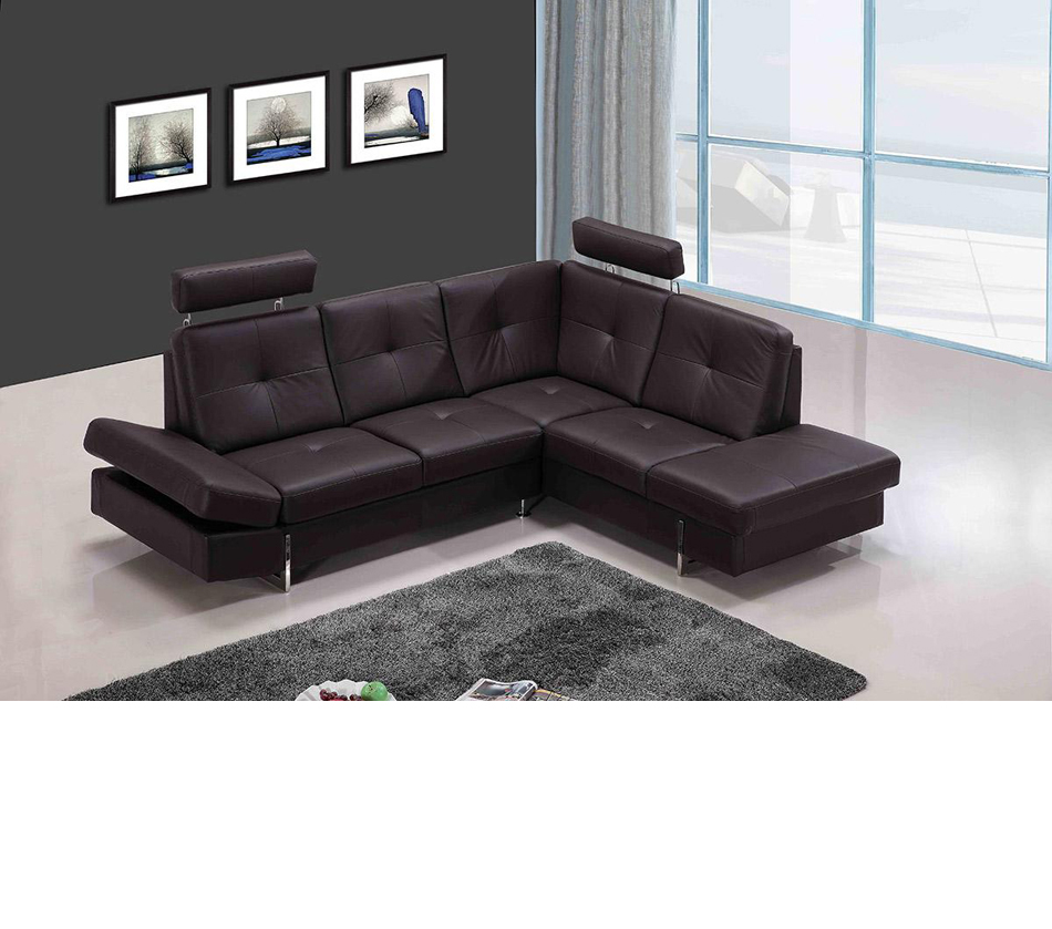 leather sectional sofa brown photo - 3