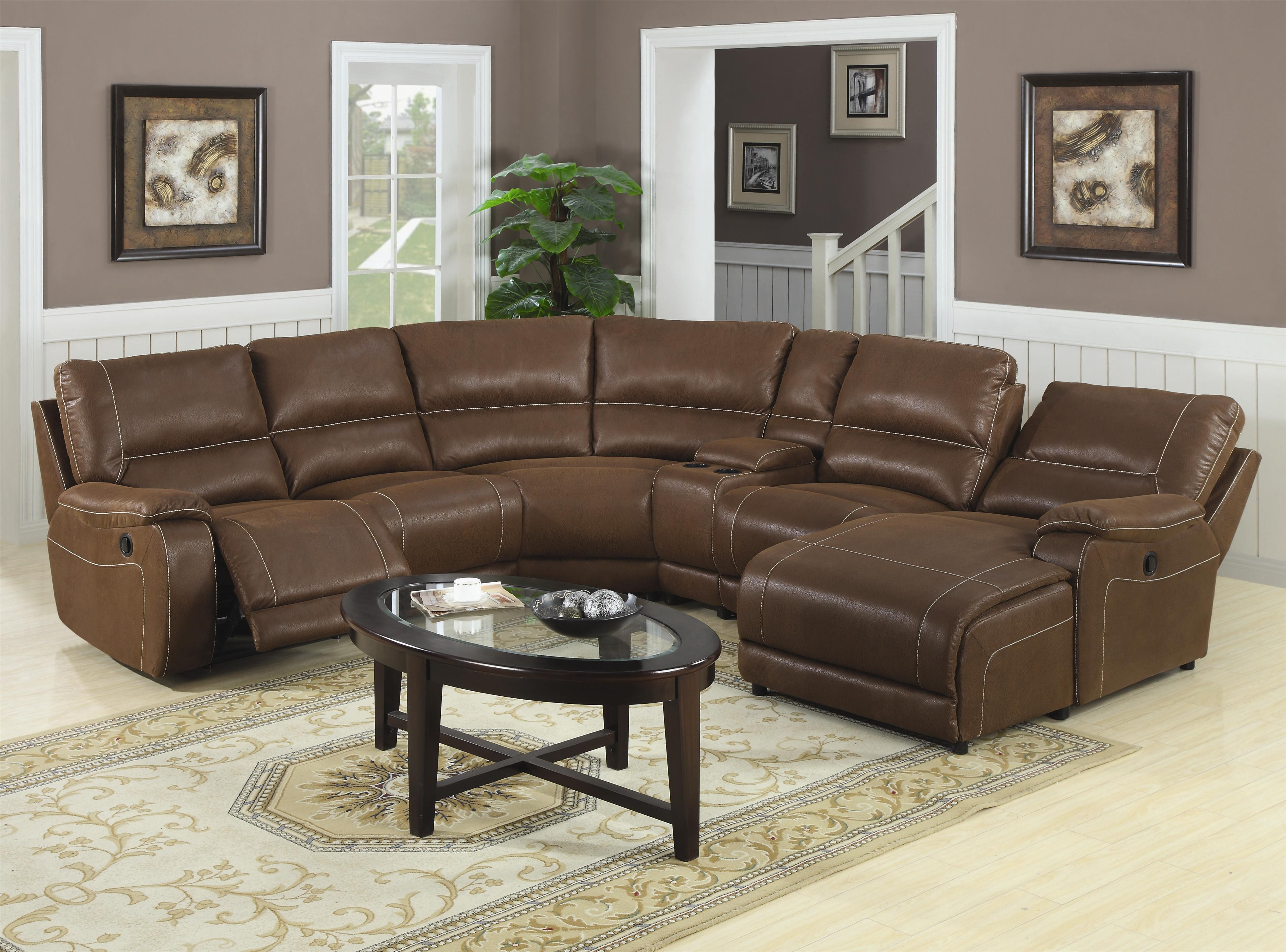 Leather Sectional Sofa Chaise Recliner Photo   8