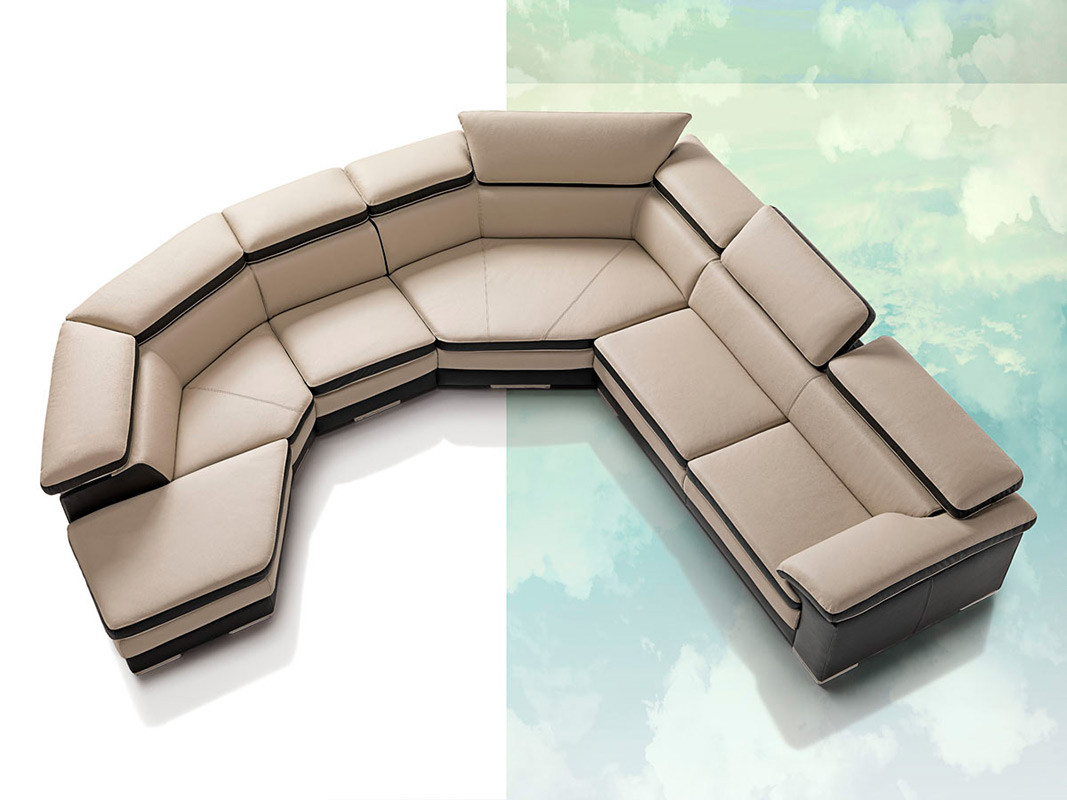leather sectional sofa contemporary photo - 1