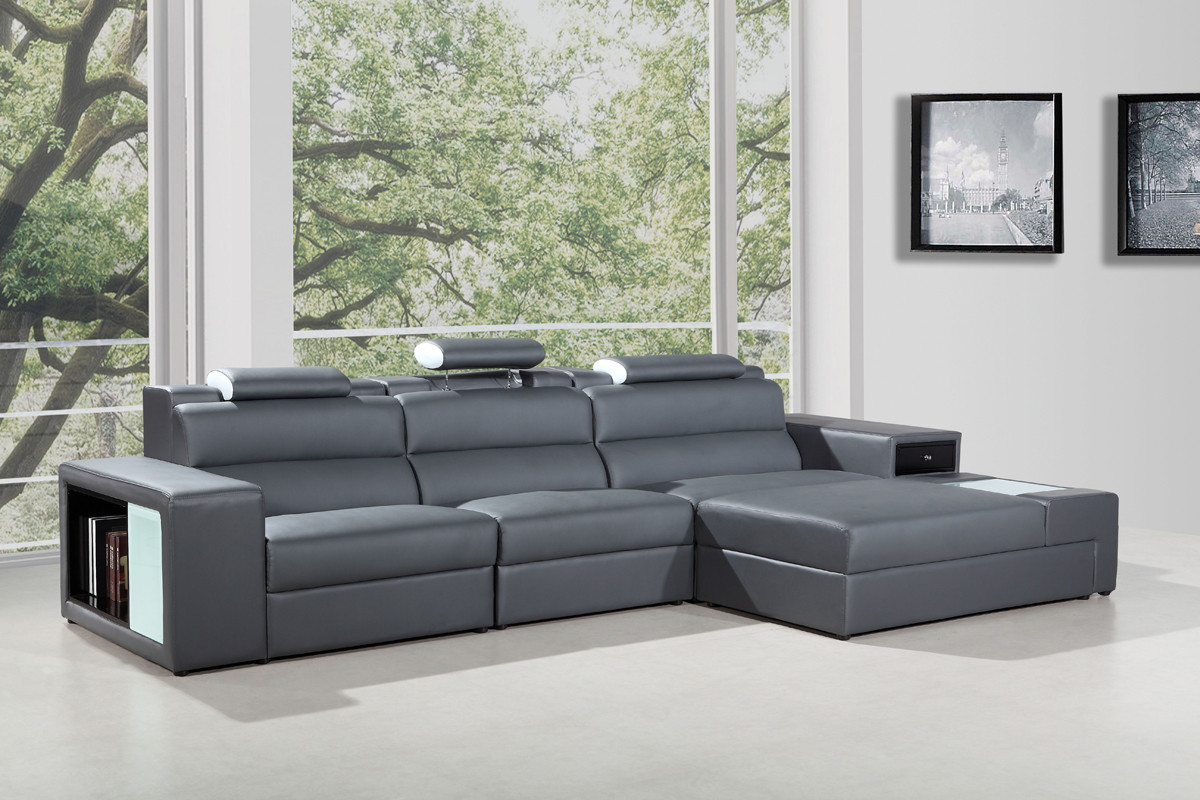 leather sectional sofa contemporary photo - 10