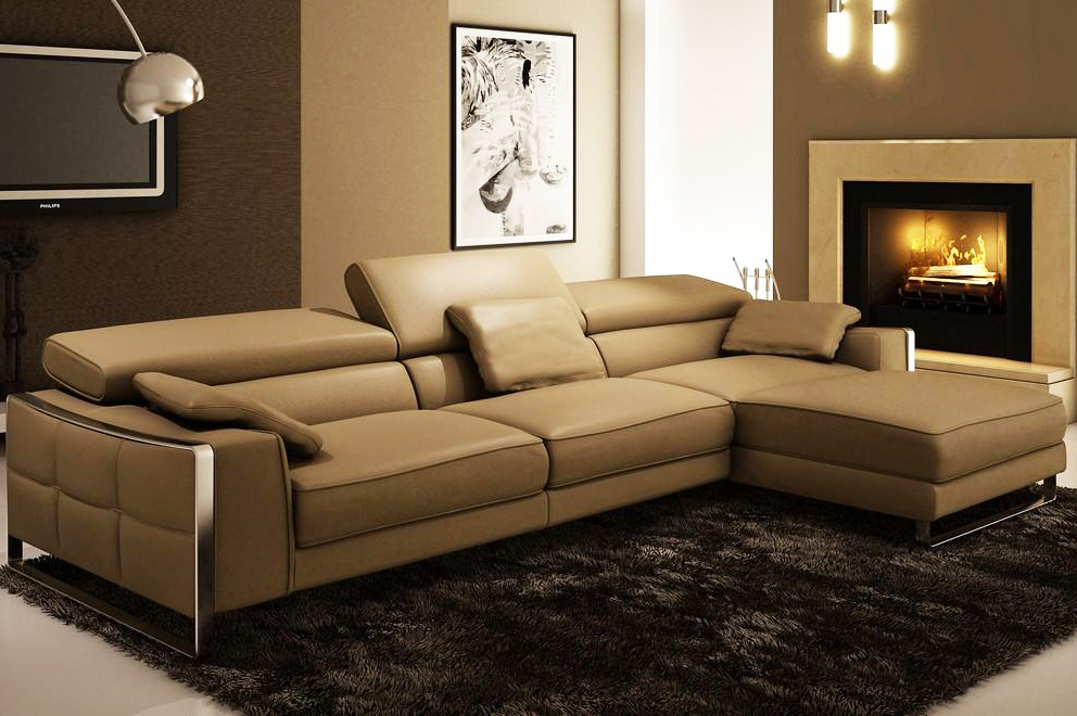 leather sectional sofa contemporary photo - 9