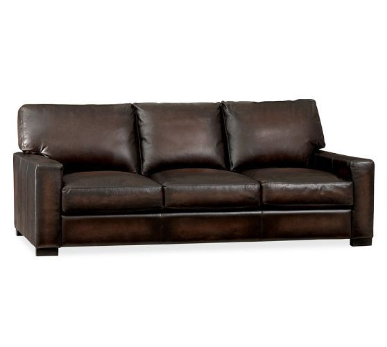 leather sectional sofas pottery barn photo - 1