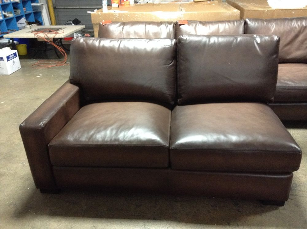 leather sectional sofas pottery barn photo - 10