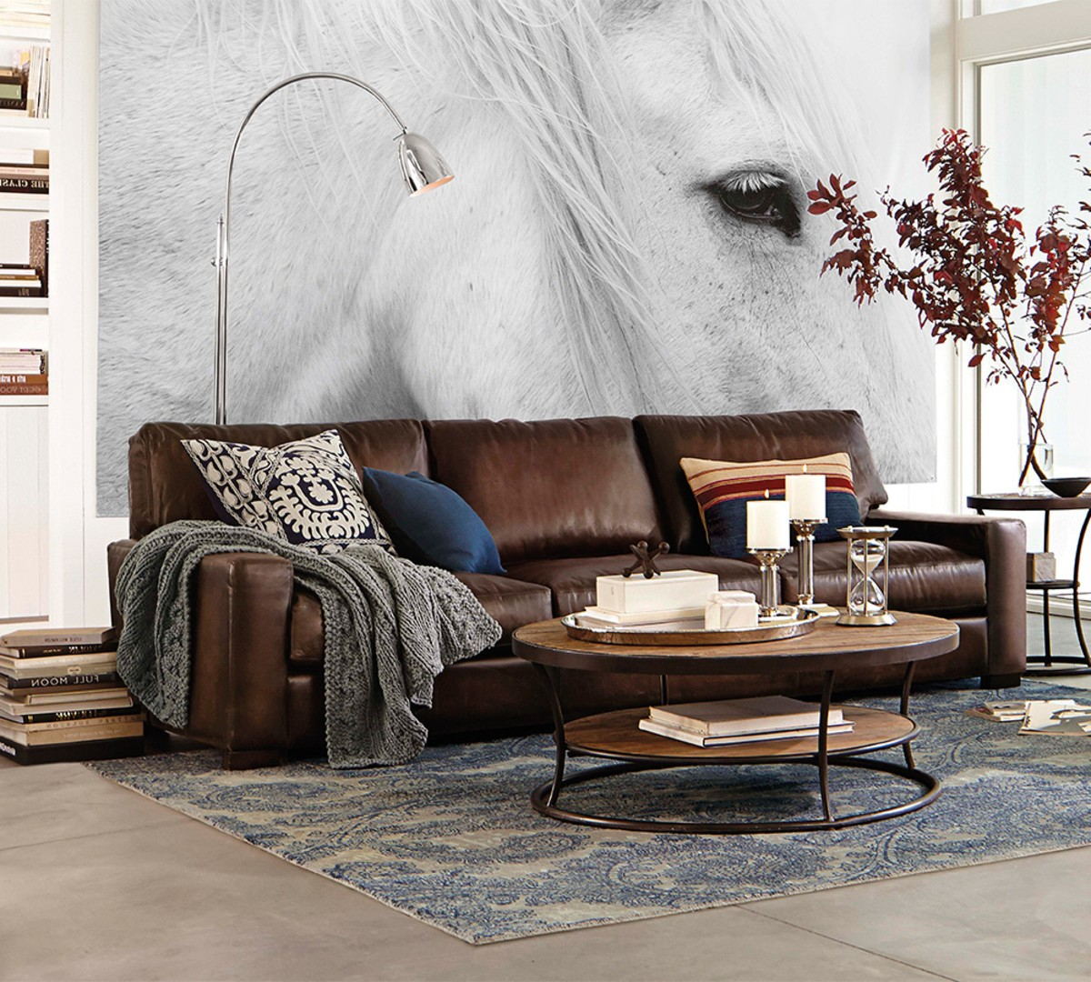 leather sectional sofas pottery barn photo - 8