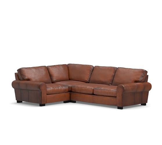 leather sectional sofas pottery barn photo - 9