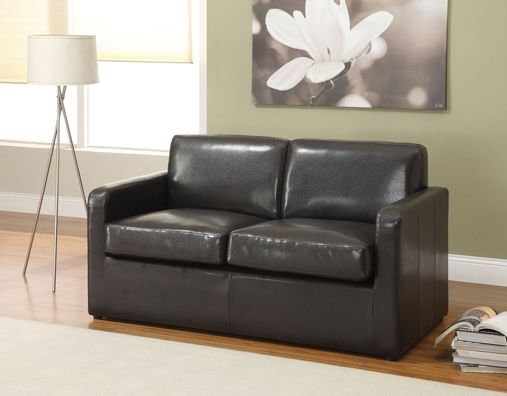 leather sleeper sectional sofa bed photo - 2
