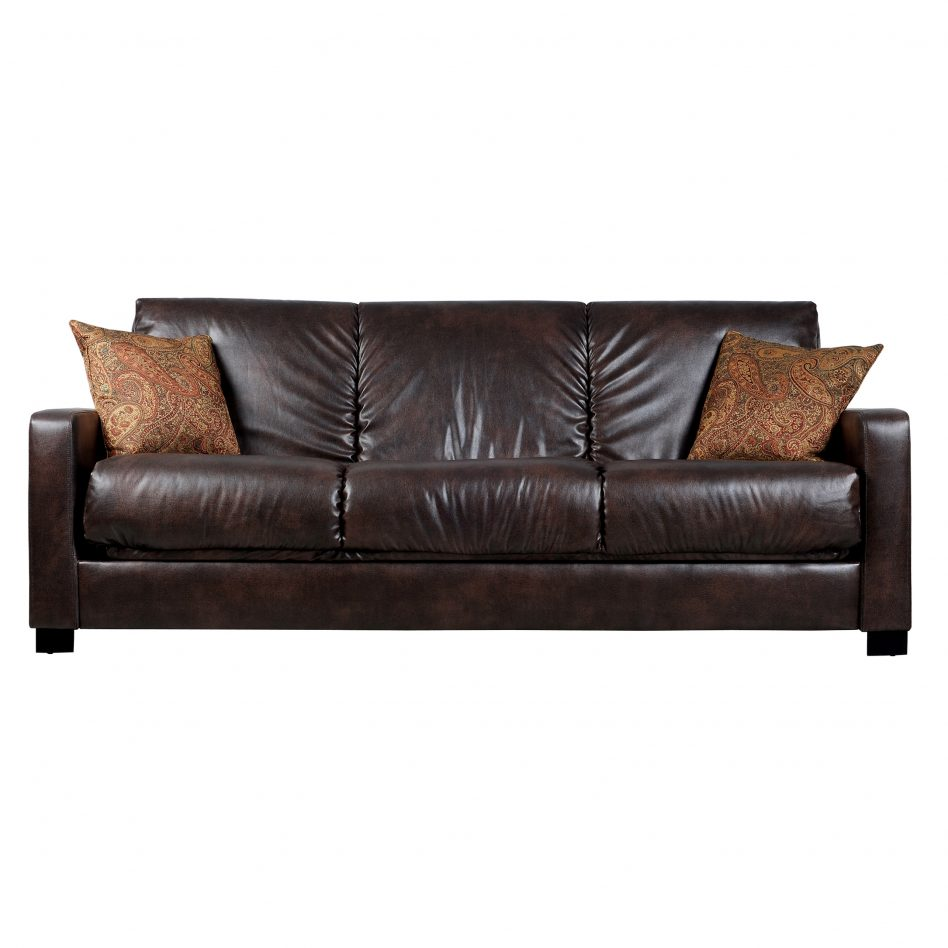 leather sleeper sectional sofa bed photo - 5