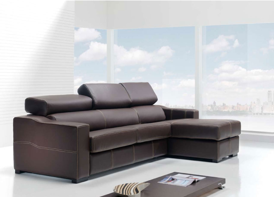 leather sleeper sectional sofa bed photo - 8