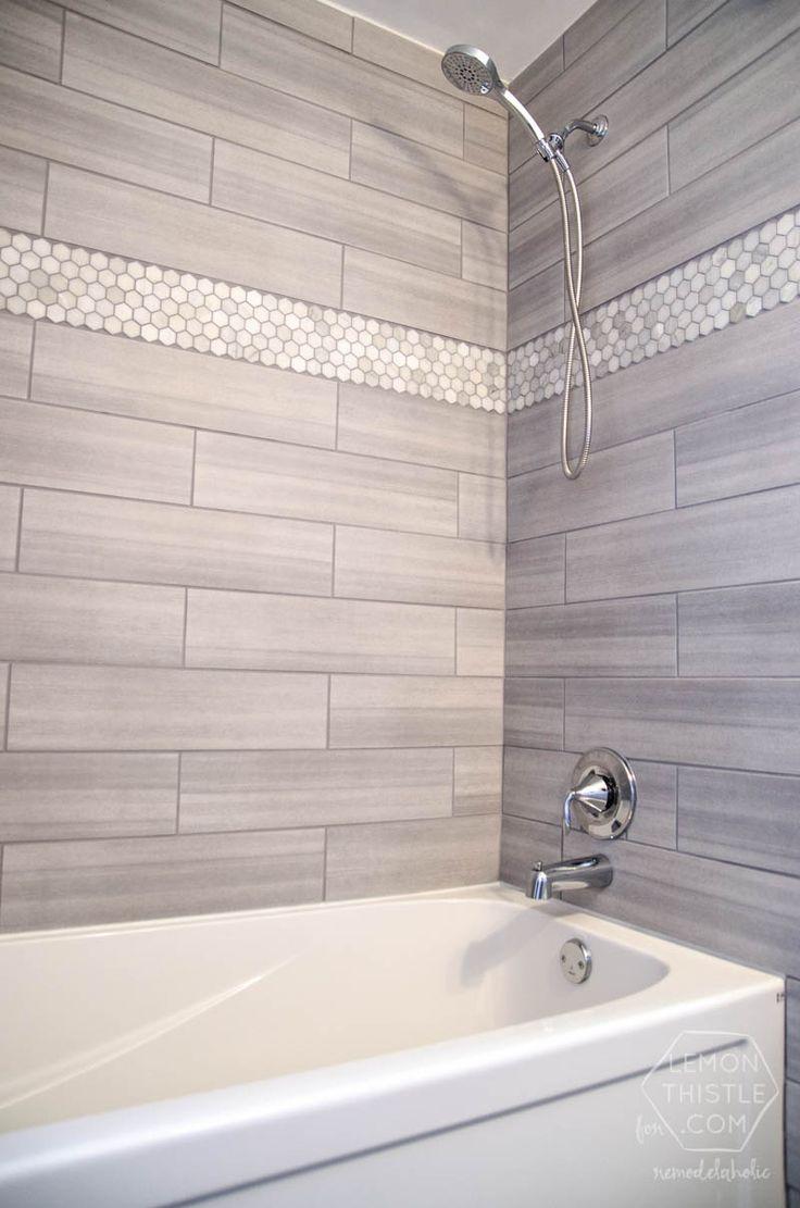 light grey bathroom tiles designs photo - 10