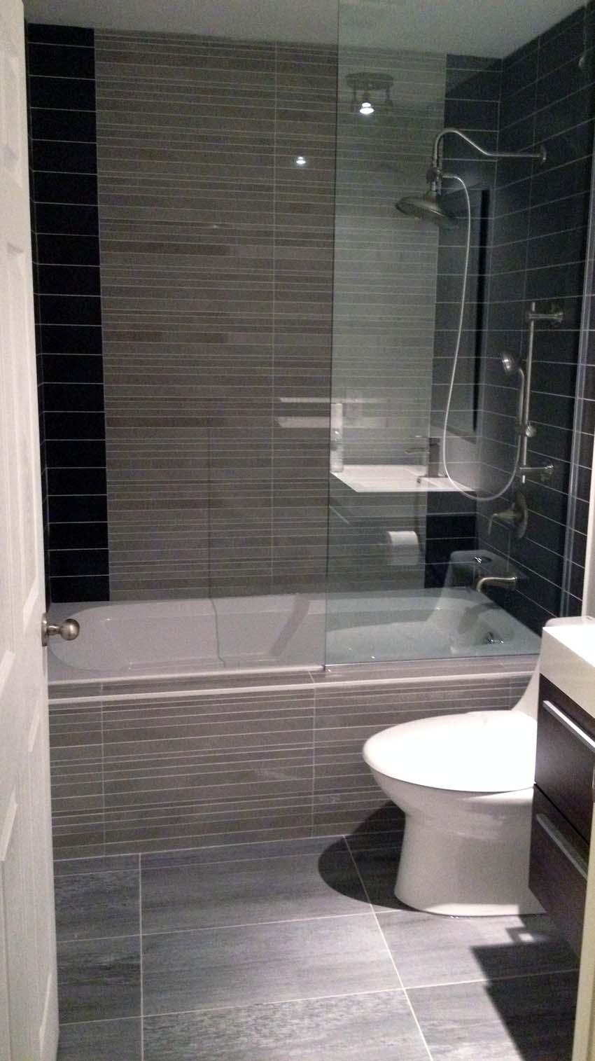 light grey bathroom tiles designs photo - 3