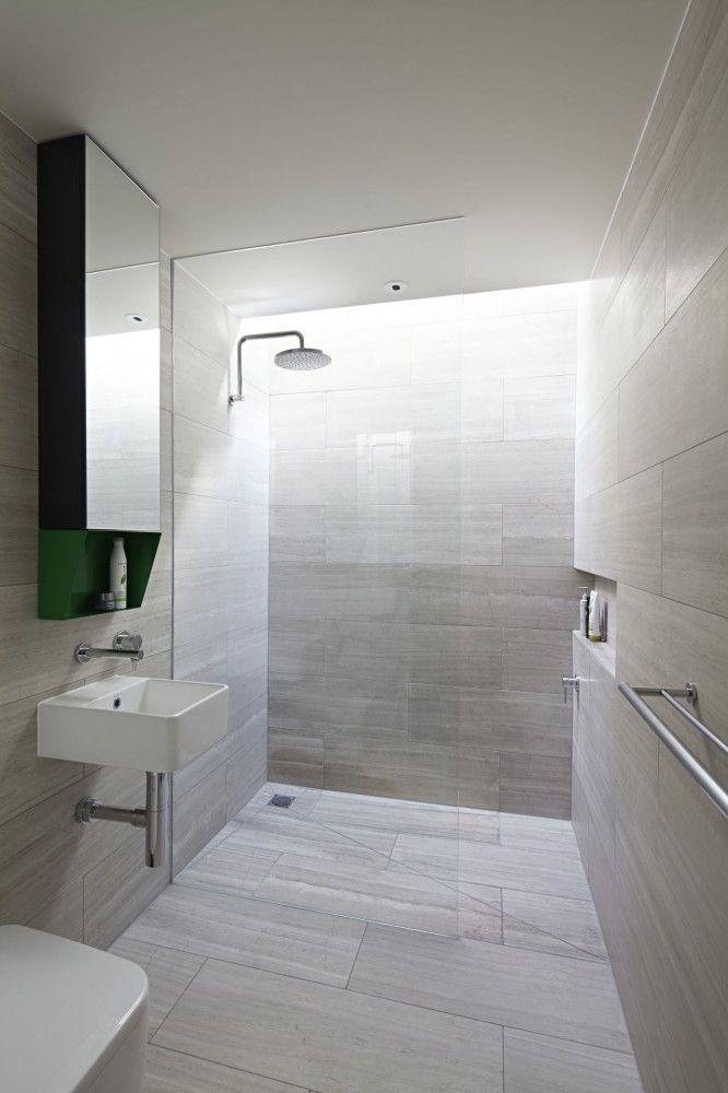 light grey bathroom tiles designs photo - 5