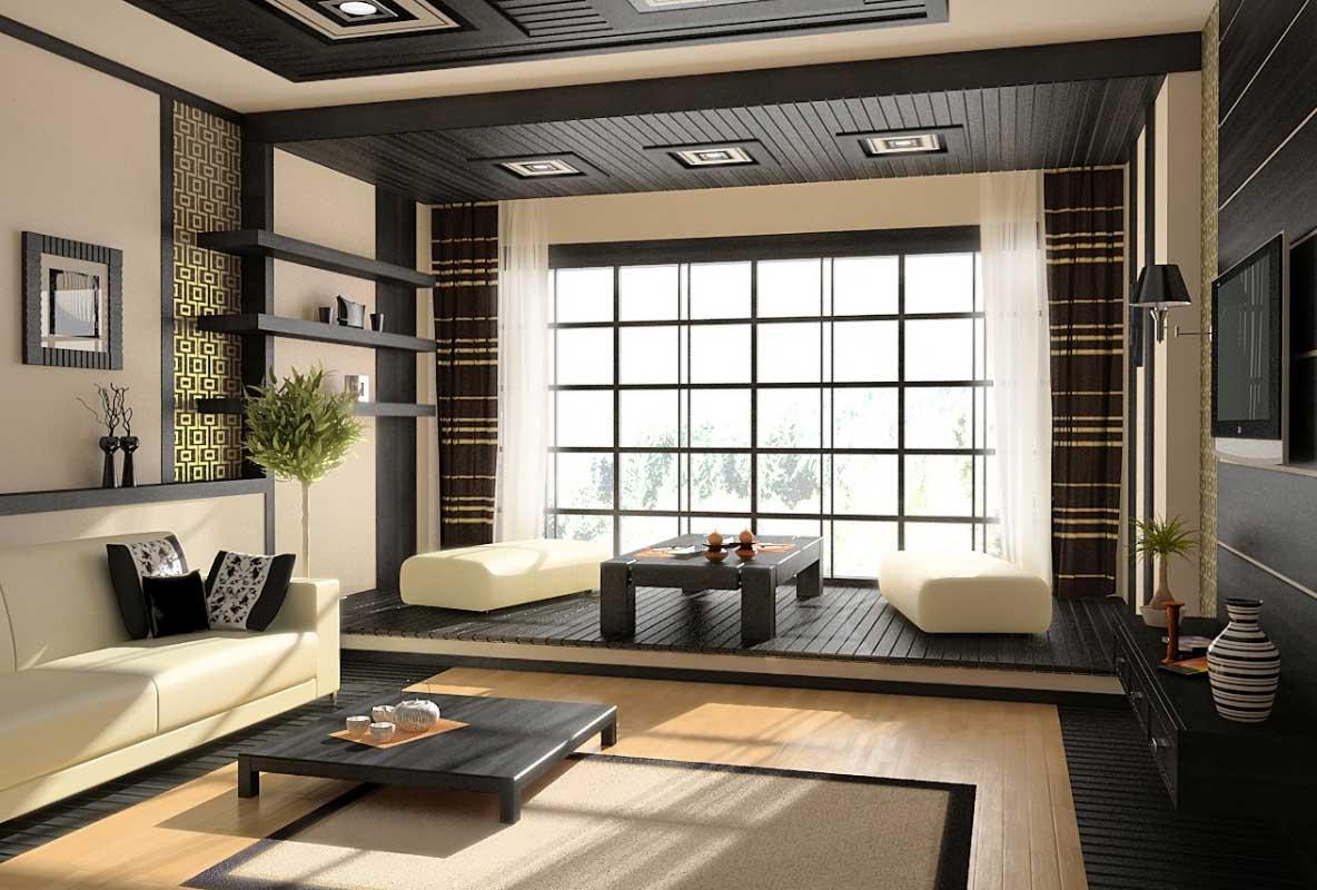 Living room design japanese style Hawk Haven