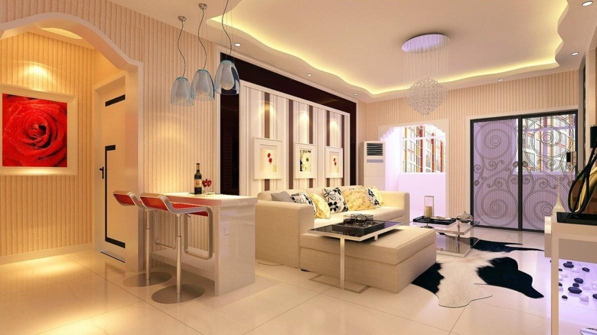 living room design lighting photo - 1