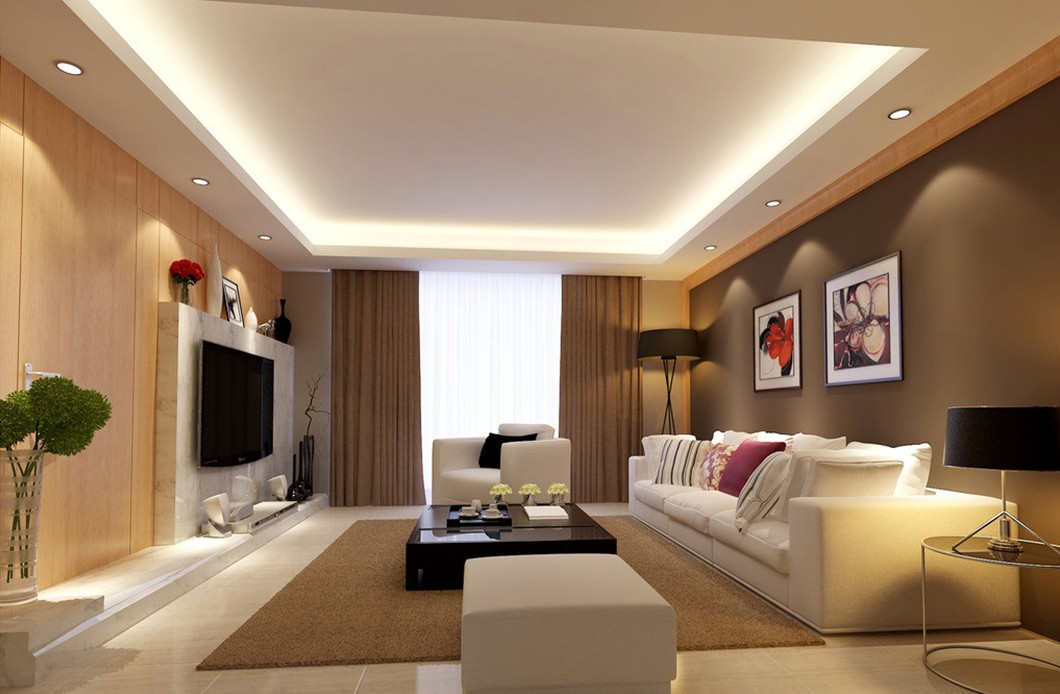 living room design lighting photo - 3