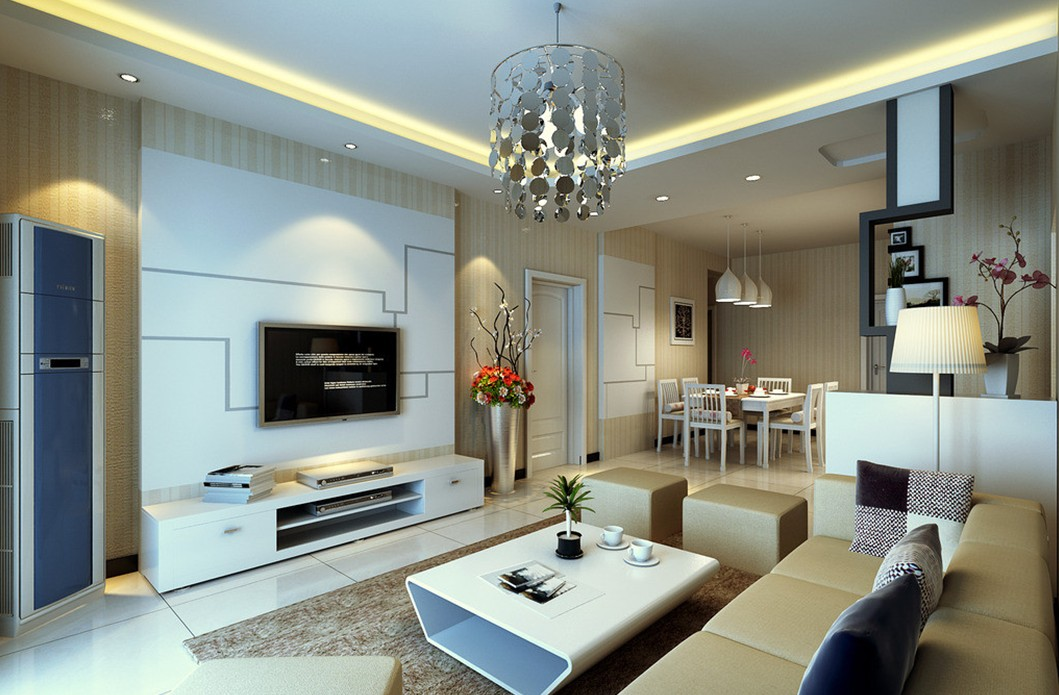 living room design lighting photo - 4