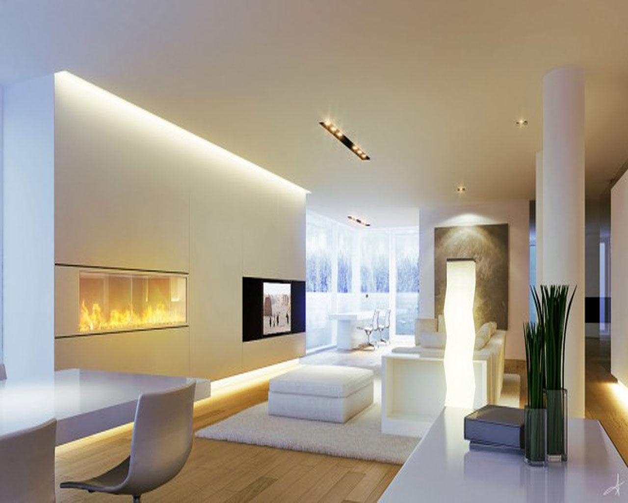 living room design lighting photo - 6