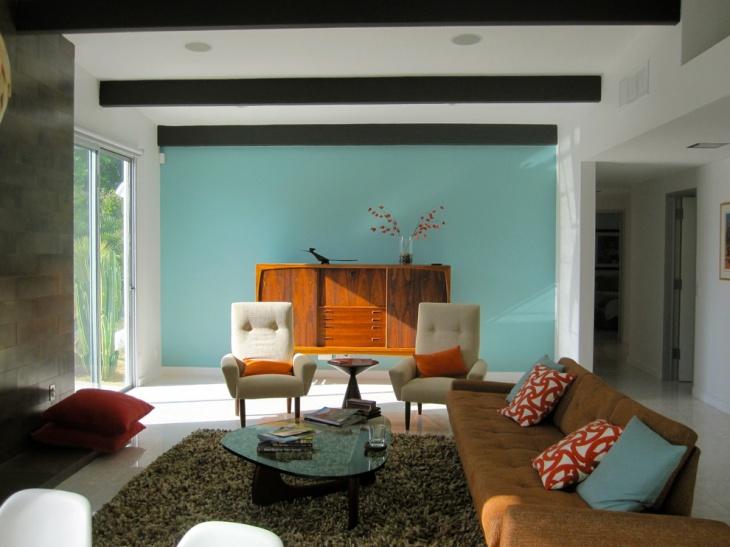 living room design retro photo - 2