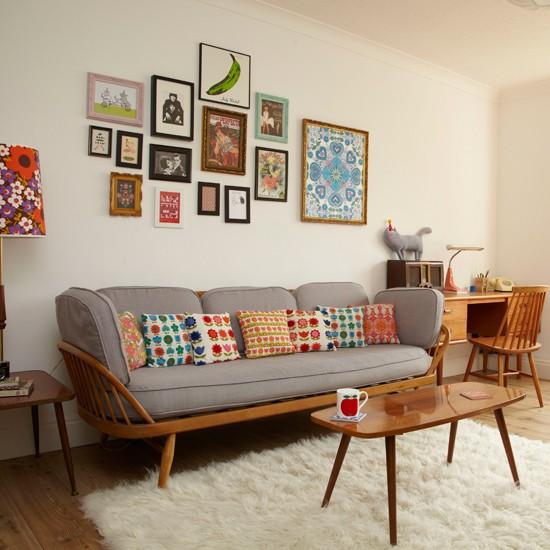 living room design retro photo - 4