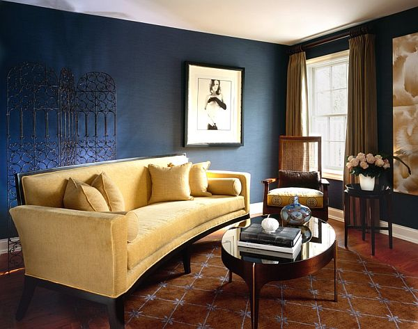 living room designs blue photo - 1