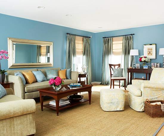 living room designs blue photo - 2