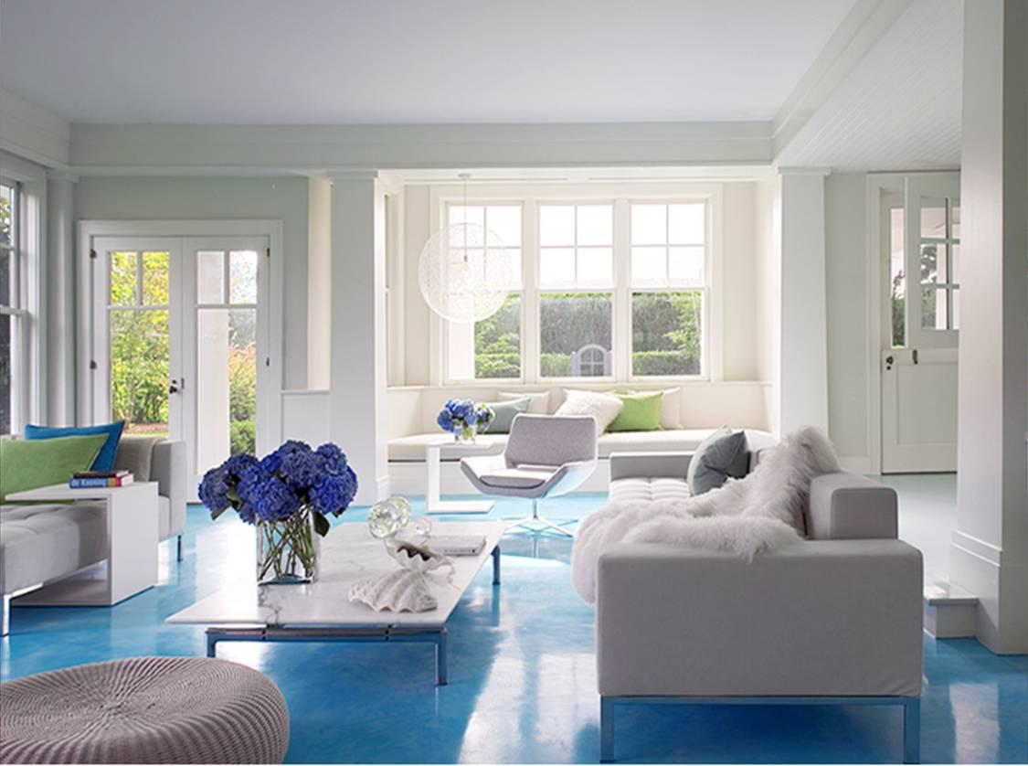 living room designs blue photo - 5