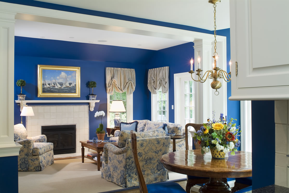 living room designs blue photo - 6