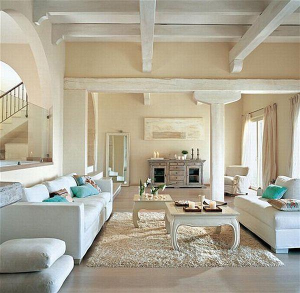 living room designs blue photo - 9