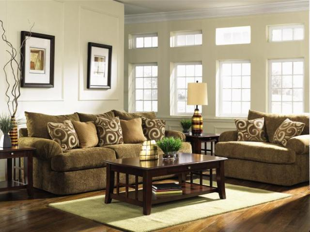 Living Room Designs Brown