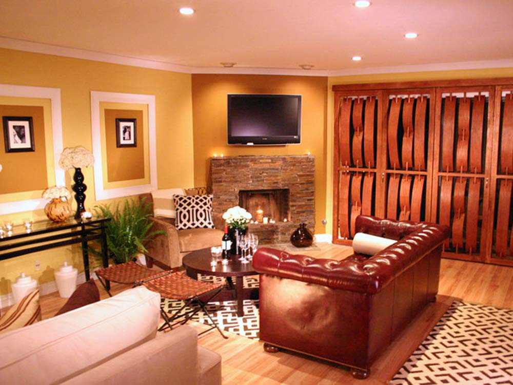 living room designs color photo - 3