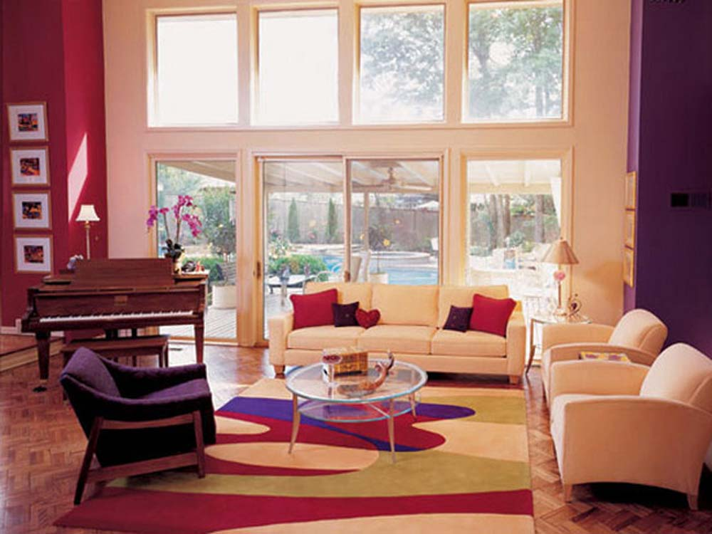living room designs color photo - 4