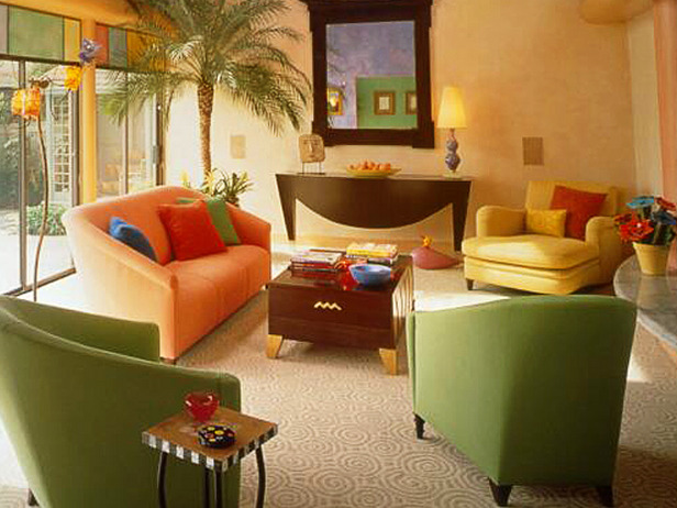 living room designs color photo - 7