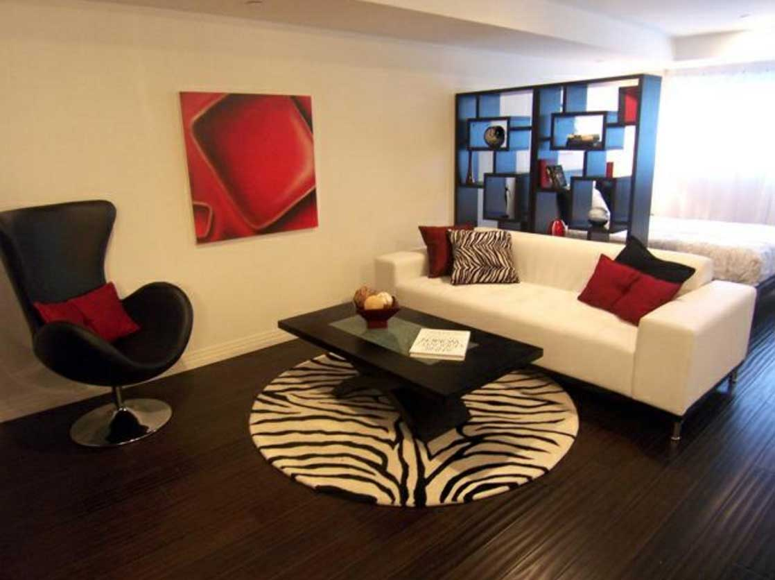 living room designs red and black photo - 4