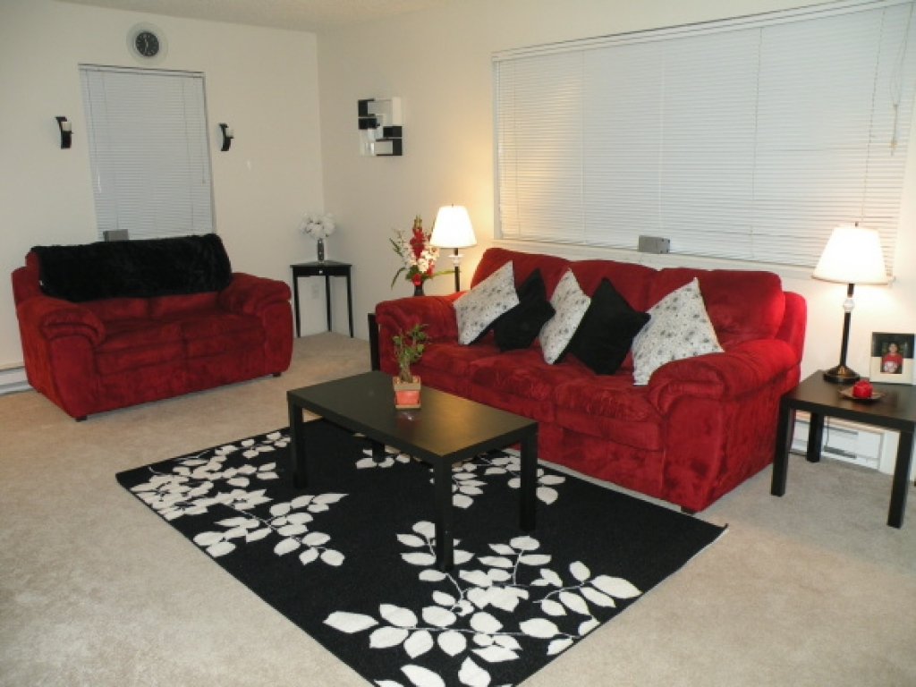 living room designs red and black photo - 9