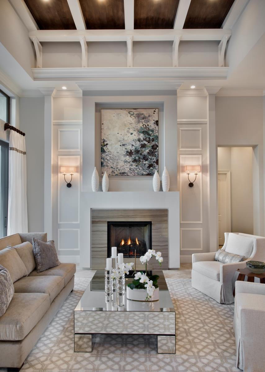 living room designs with fireplace photo - 1