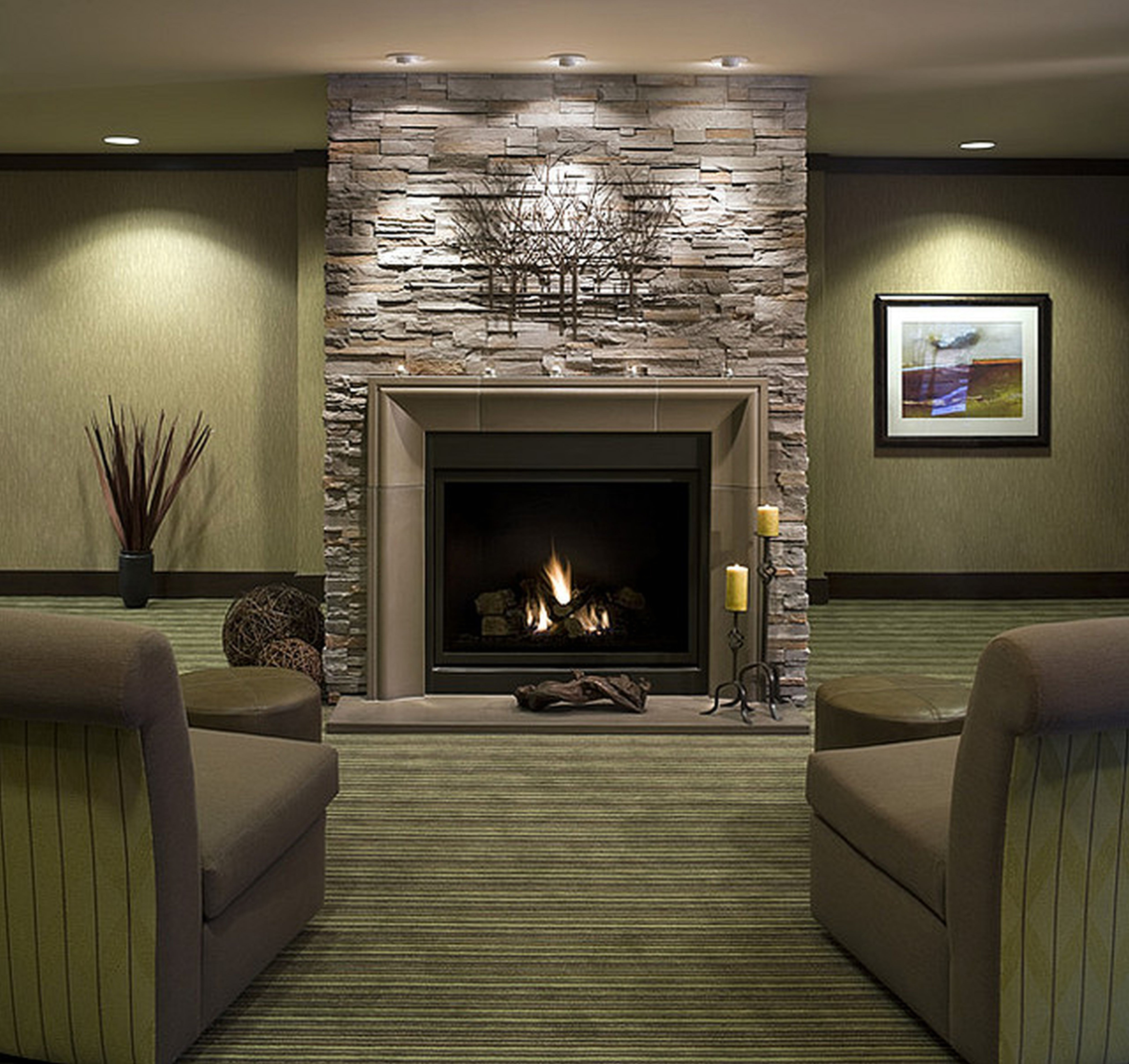 living room designs with fireplace photo - 2