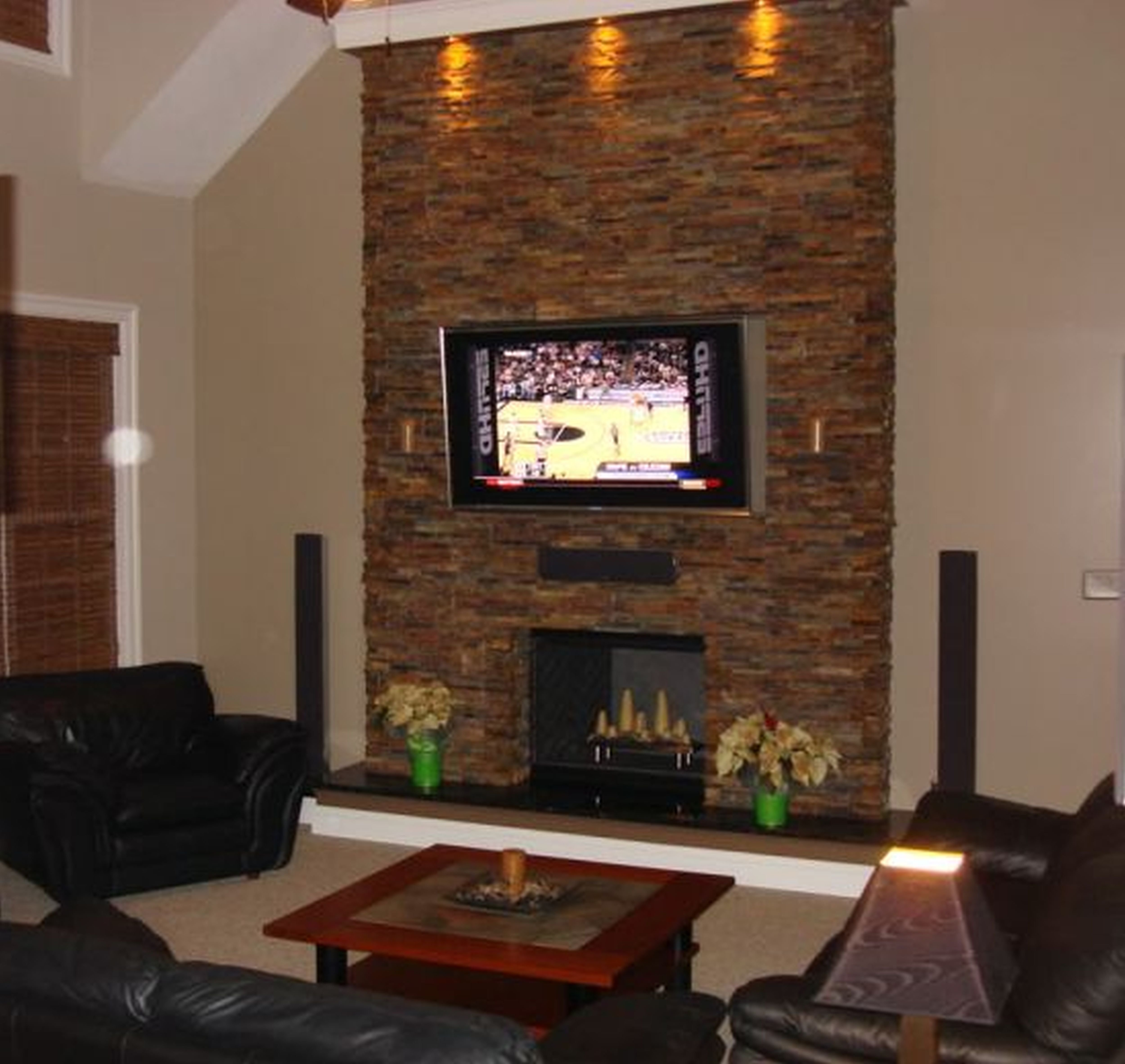 living room designs with fireplace photo - 6
