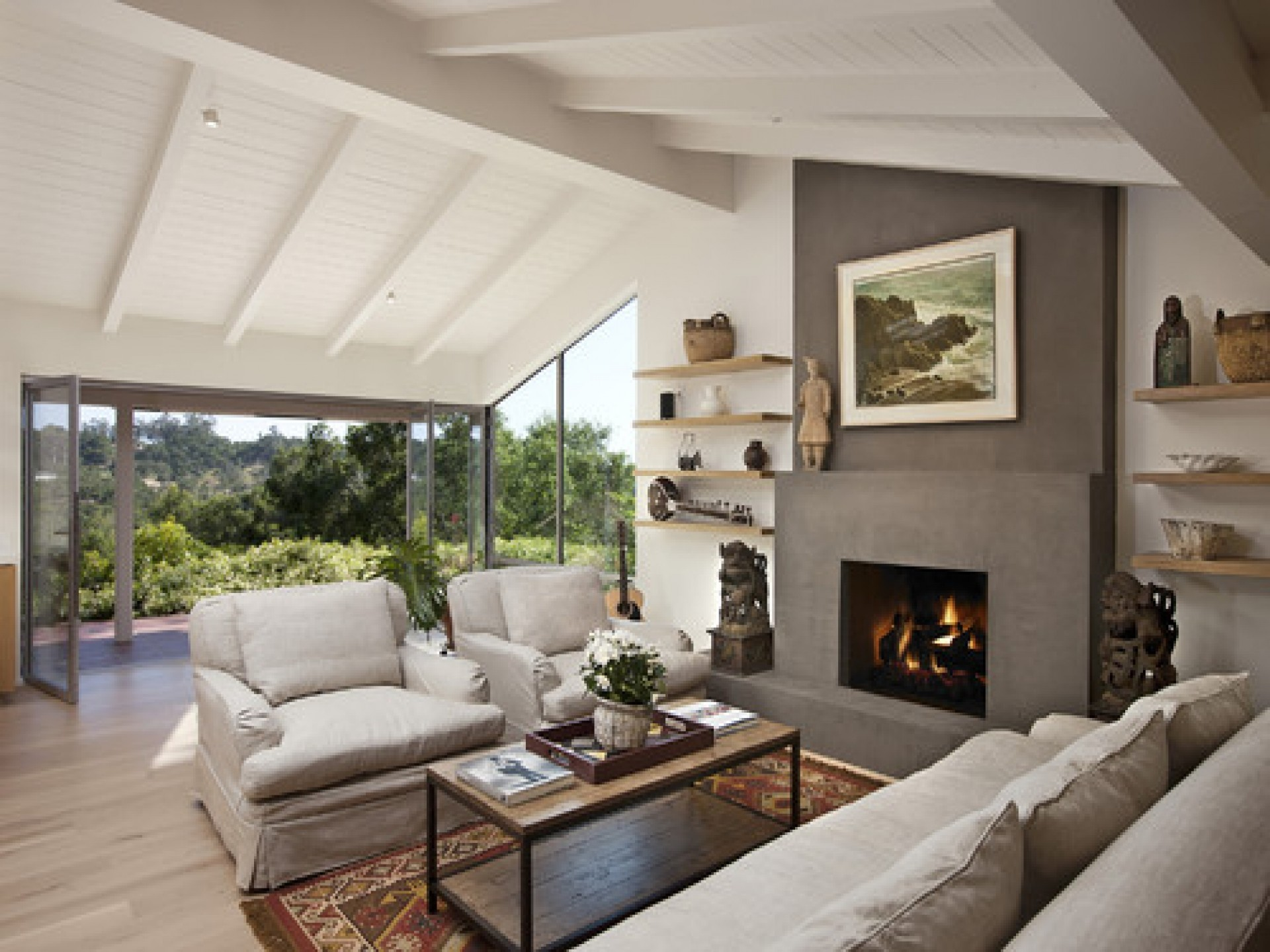 living room designs with fireplace photo - 9