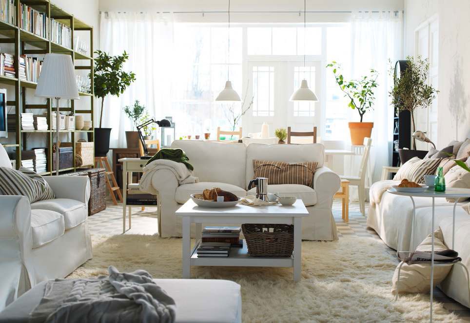 Living room designs with white furniture Living