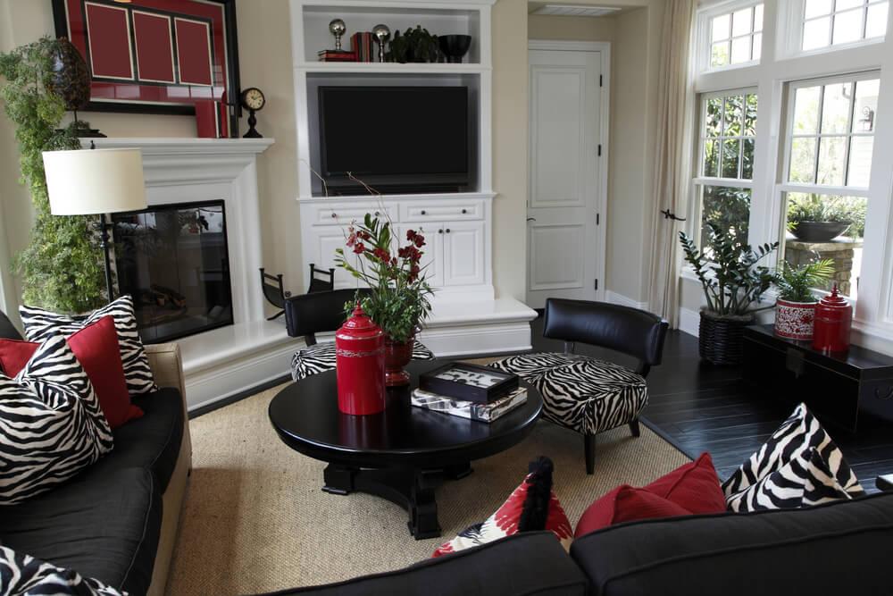 Living Room Designs Zebra Hawk Haven