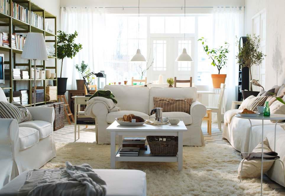 Living Room White Furniture Decorating Ideas