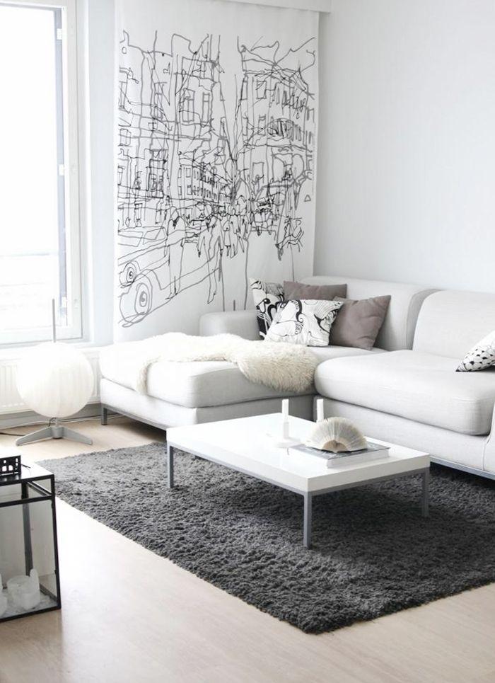 Living Room White Furniture Decorating Ideas Photo