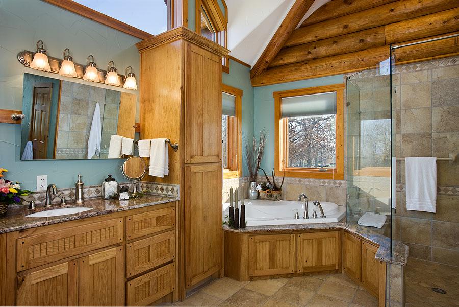 log home bathrooms photo - 5