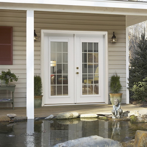 lowes double french doors exterior photo - 6