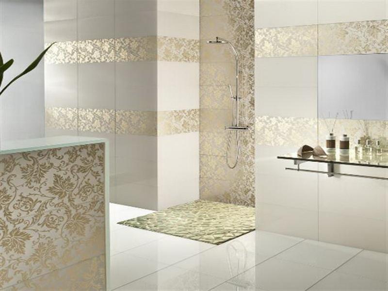 luxury bathroom glass tile photo - 1