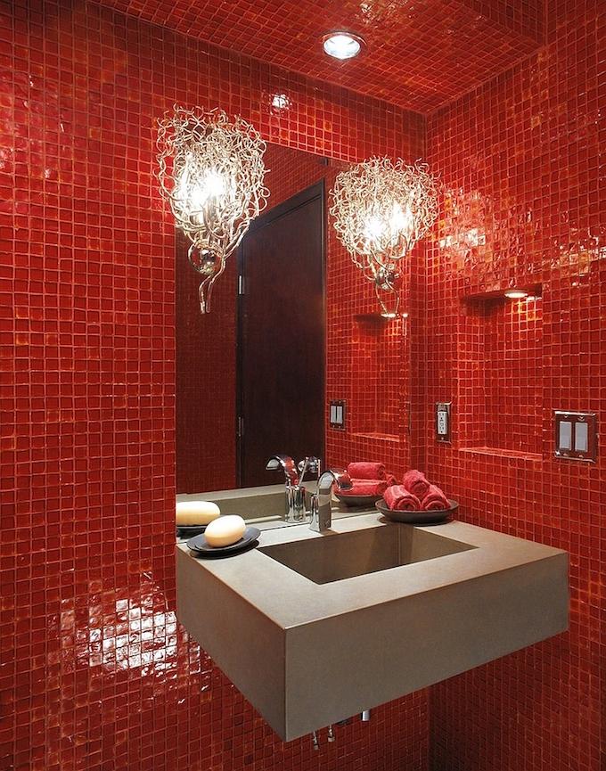 luxury bathroom glass tile photo - 10